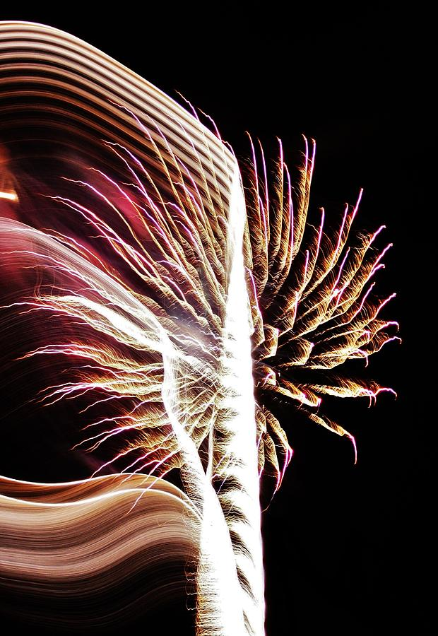 Fireworks Photograph - Electric by Paulette Thomas