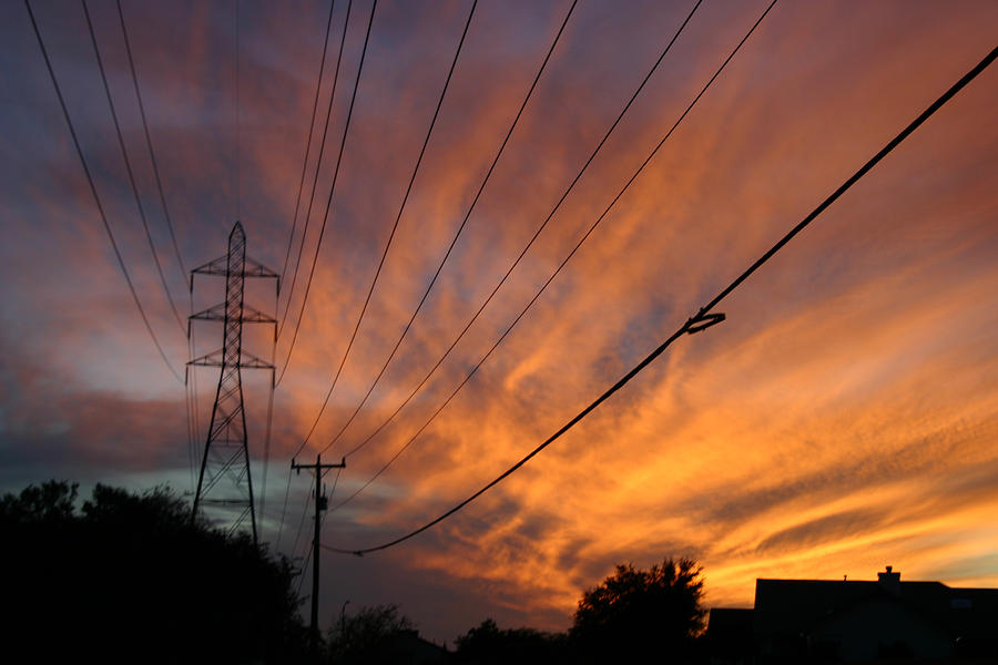 Ironman Photograph - Electric Sunset by Nina Fosdick