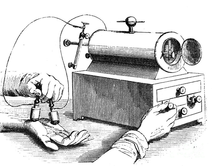 1876 Photograph - Electrical Device, 1876 by Granger