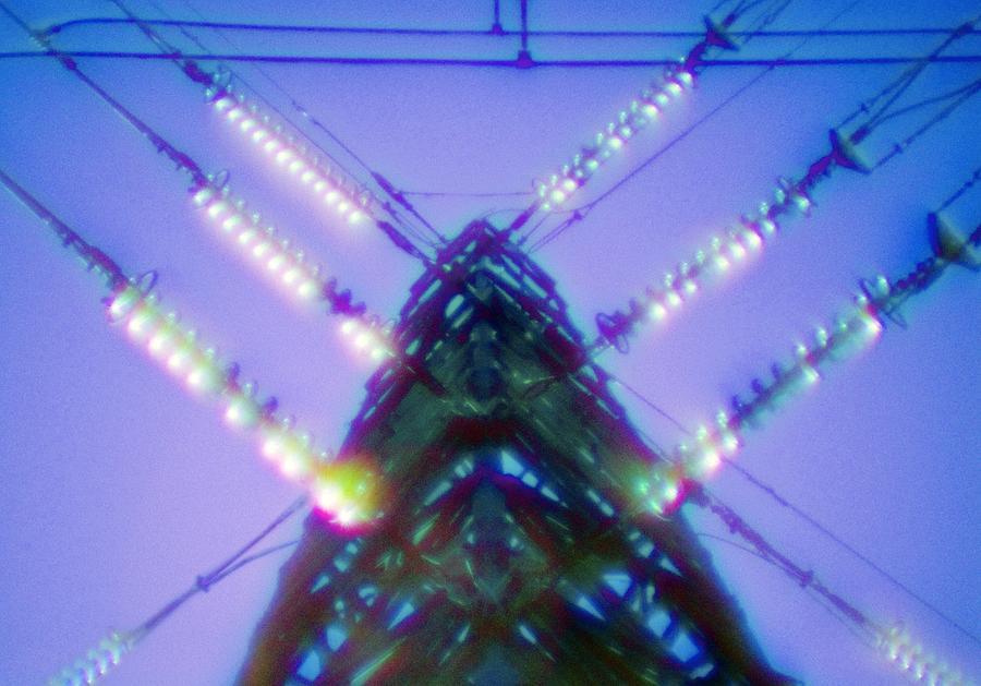 Pylon Photograph - Electricity Power Pylon by Richard Kail