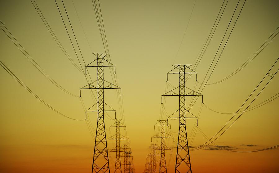 View Photograph - Electricity Pylons by Kelly Redinger