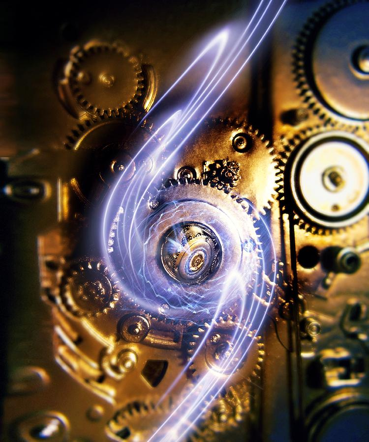 Cog Photograph - Electromechanics, Conceptual Image by Richard Kail
