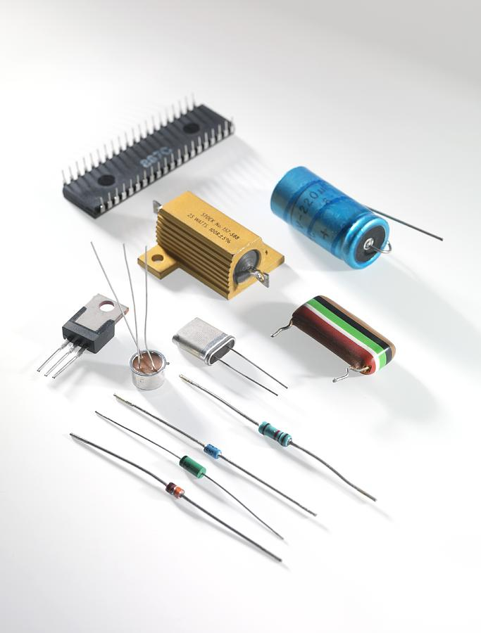 Close Up Photograph - Electronic Components by Tek Image