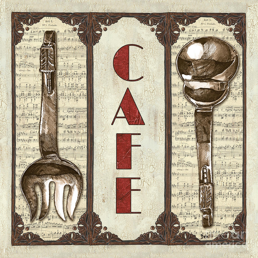 Cafe Painting - Elegant Bistro 2 by Debbie DeWitt