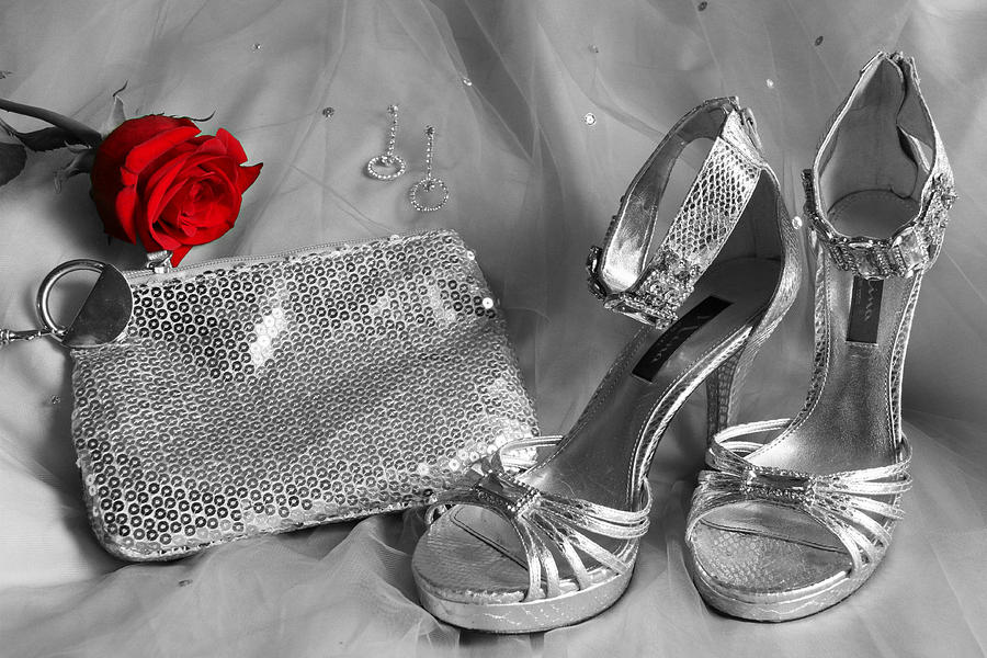 Rose Photograph - Elegant Night Out In Selective Color by Mark J Seefeldt
