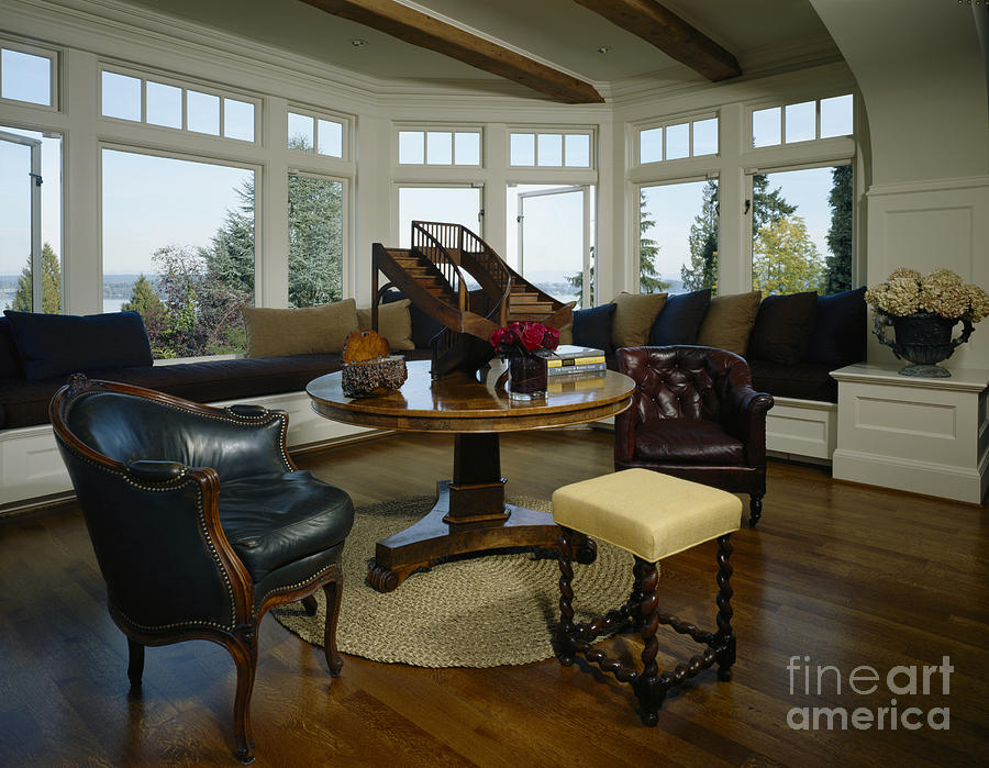 Architectural Detail Photograph - Elegant Sitting Room by Robert Pisano