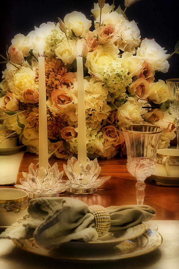 Elegant Photograph - Elegant Tablesetting by Trudy Wilkerson