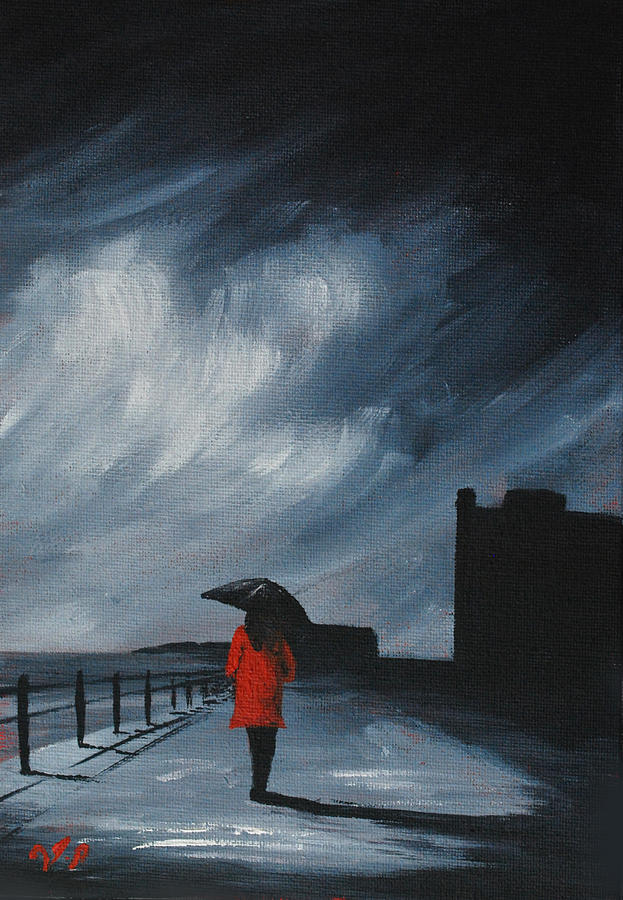 Red Coat Painting - Elegant Walk by J P  McLaughlin