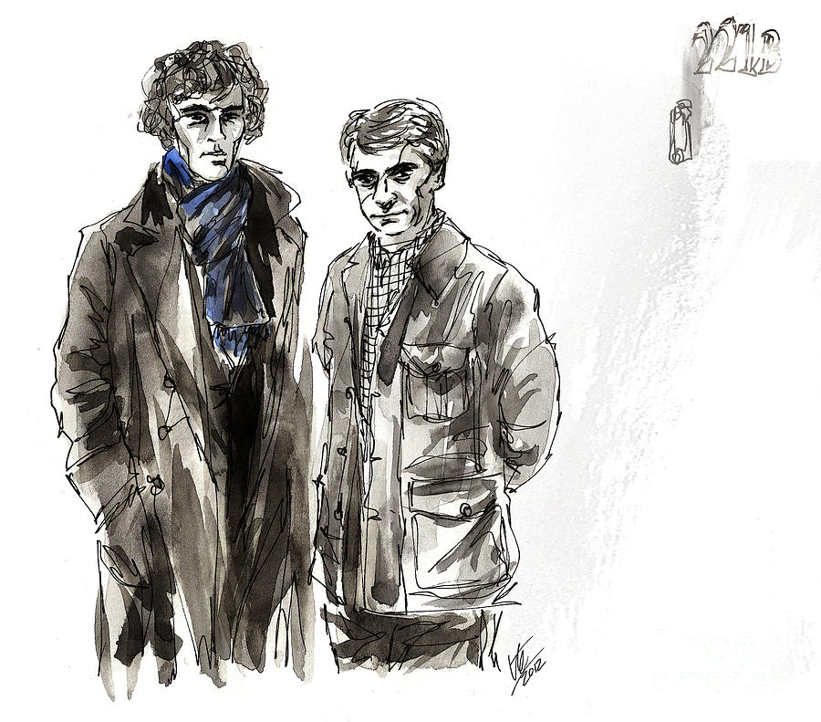 Sherlock Painting - Elementary.. by Ruth Joyce