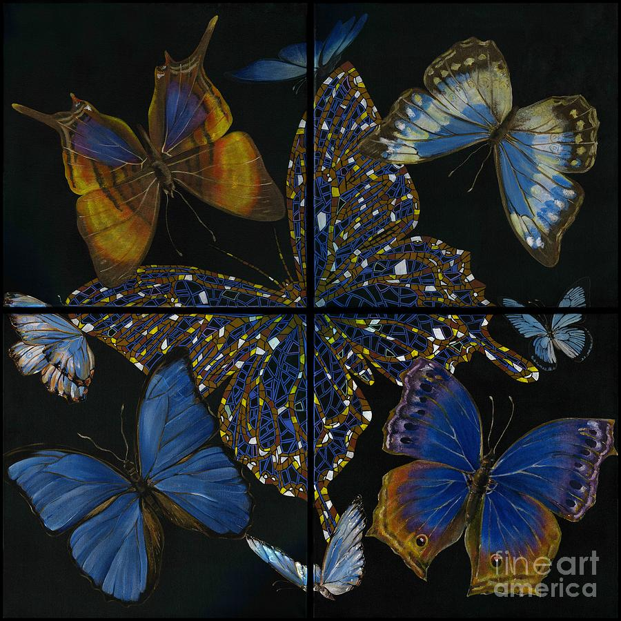 Acrylic Painting - Elena Yakubovich Butterfly 2x2 by Elena Yakubovich