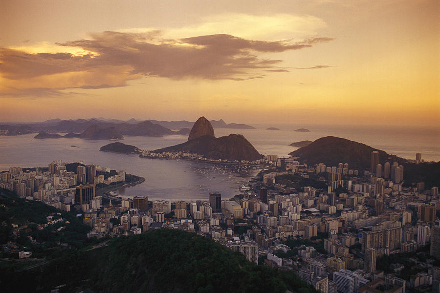 South America Photograph - Elevated View Of Rio De Janeiro by Richard Nowitz