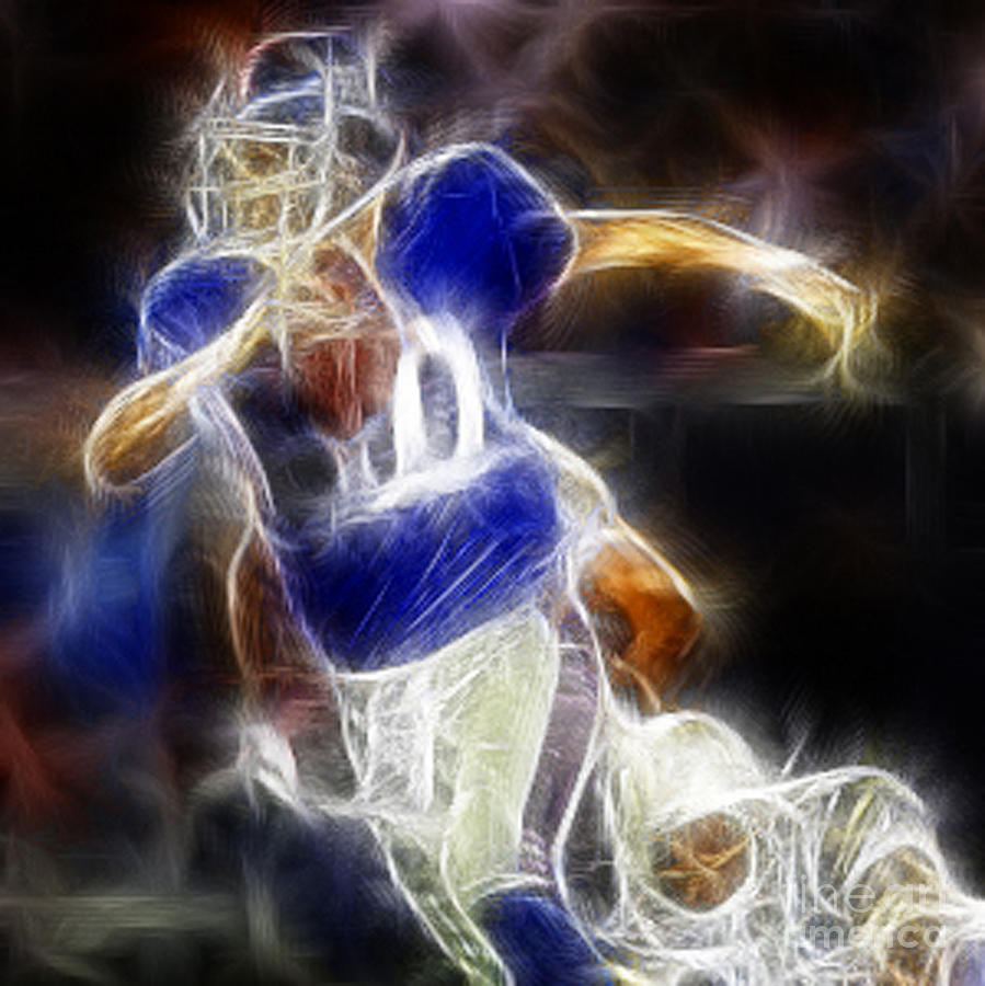 Eli Manning Digital Art - Eli Manning Quarterback by Paul Ward