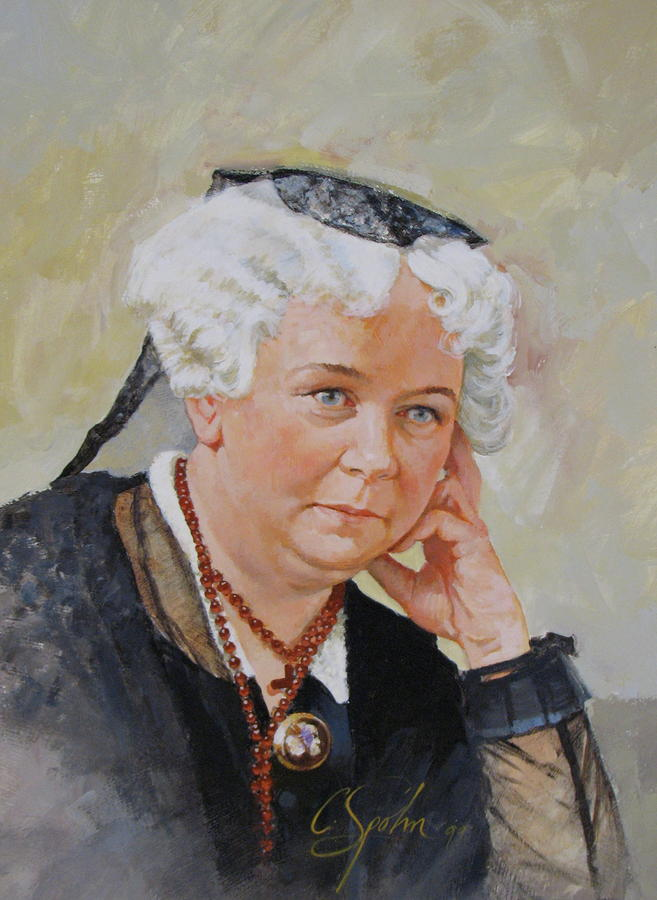 Elizabeth Cady Stanton Painting By Cliff Spohn