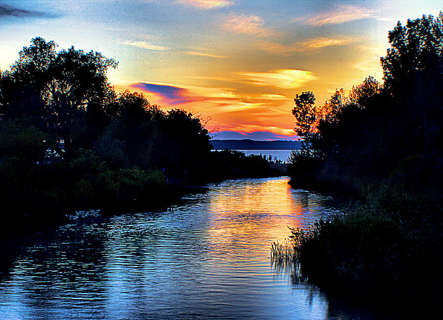 Sunset Photograph - Elk Rapids Sunset by Matthew Winn
