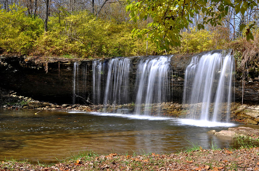 Wayne County Photograph - Elkhorn Falls Wayne County Indiana by Marsha Williamson Mohr