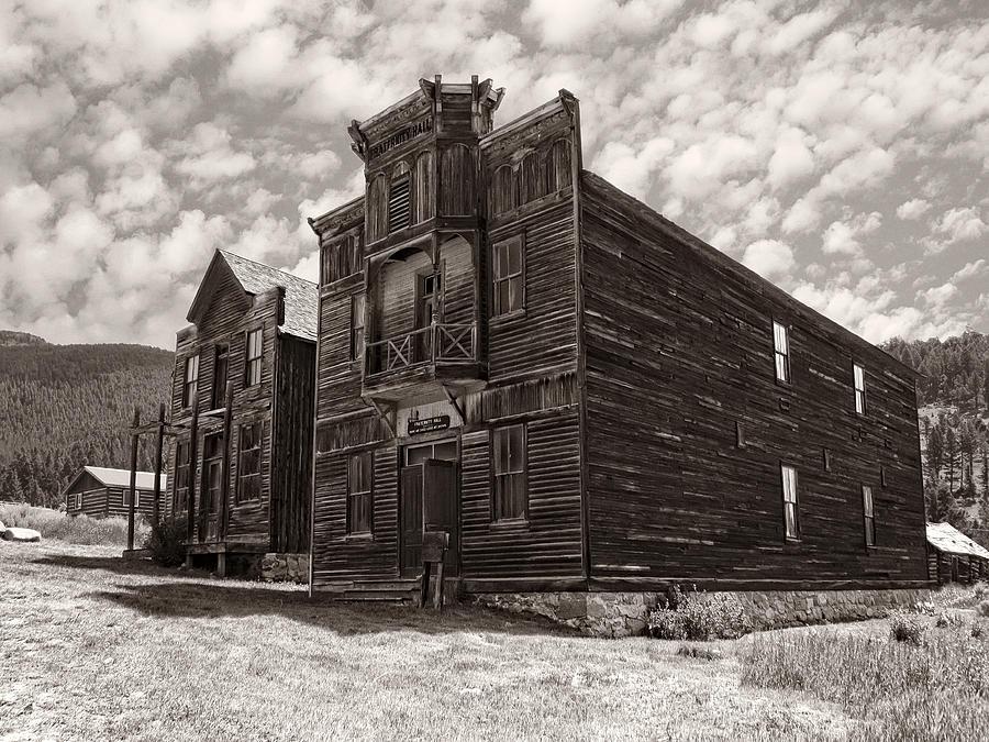 Elkhorn Photograph - Elkhorn Ghost Town Public Halls 3 - Montana by Daniel Hagerman