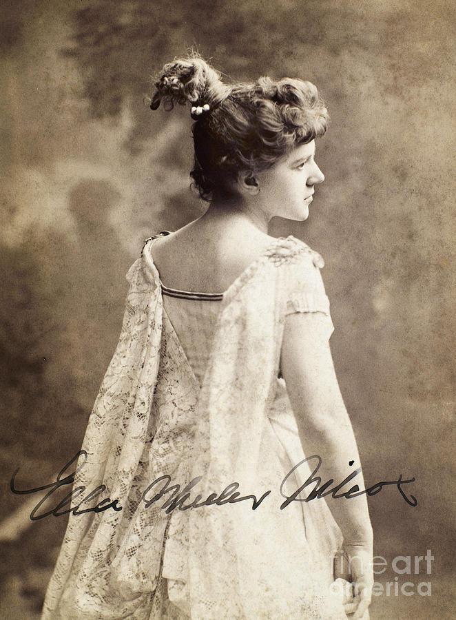19th Century Photograph - Ella Wheeler Wilcox by Granger