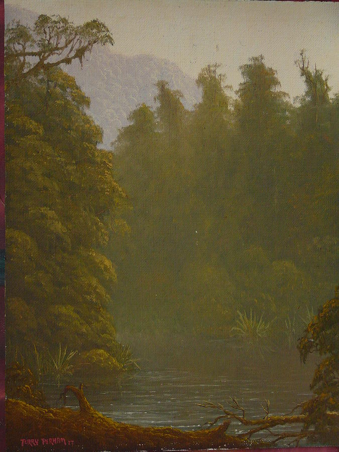 Landscape Painting - Ellery River 1977 by Terry Perham
