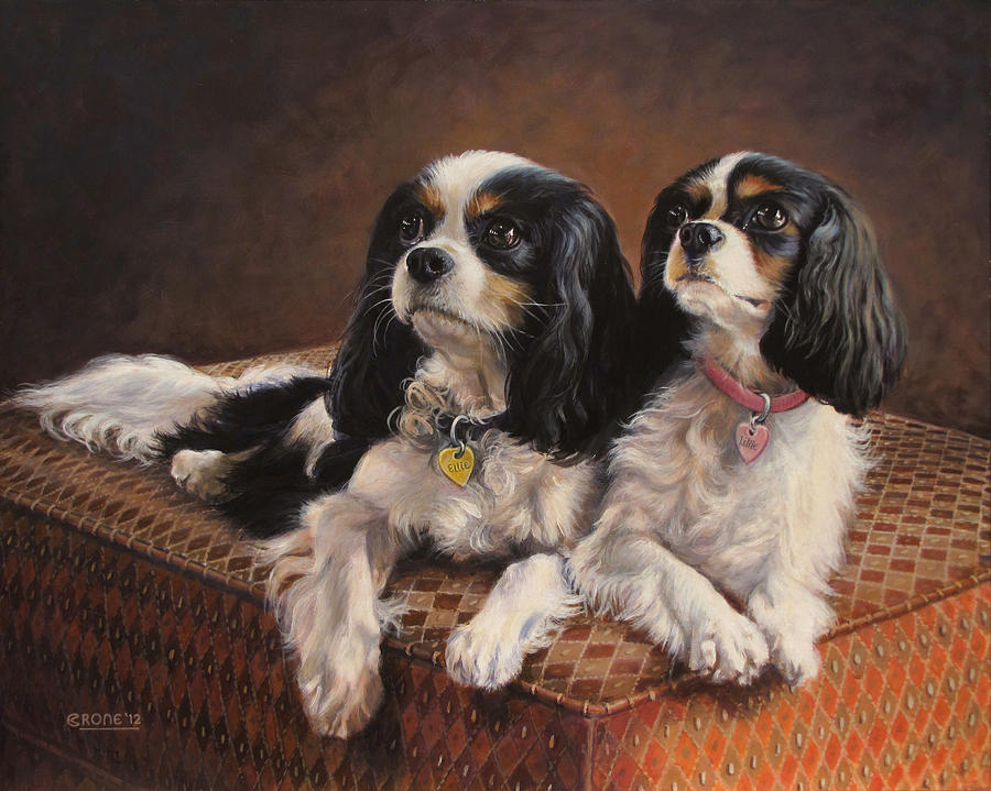 Ellie And Lillie Painting by Vicki Crone