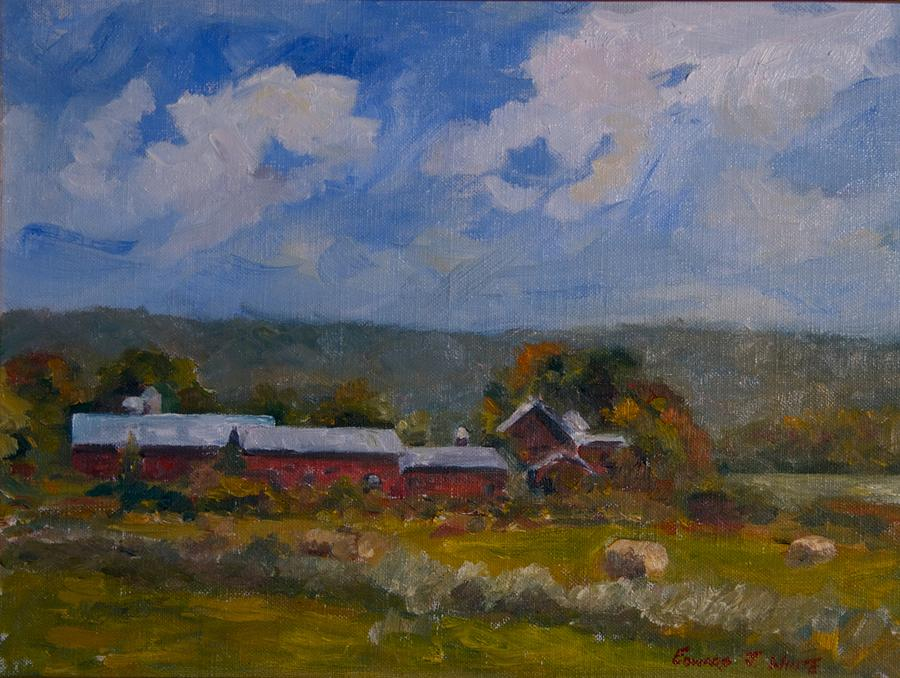 Connecticut Painting - Elm Knoll September by Edward White
