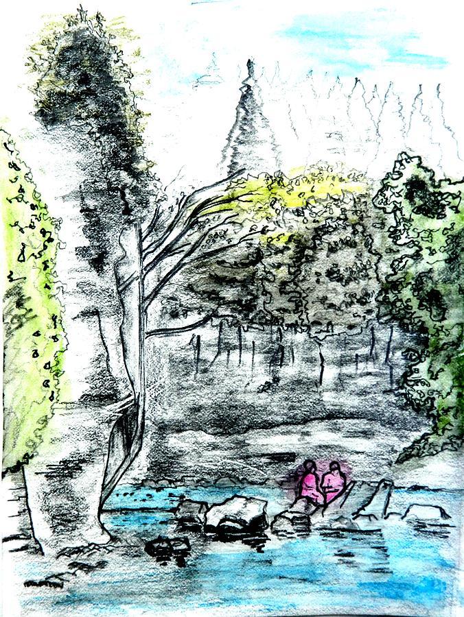 Girls Drawing - Elora Sketch by Musat Iliescu