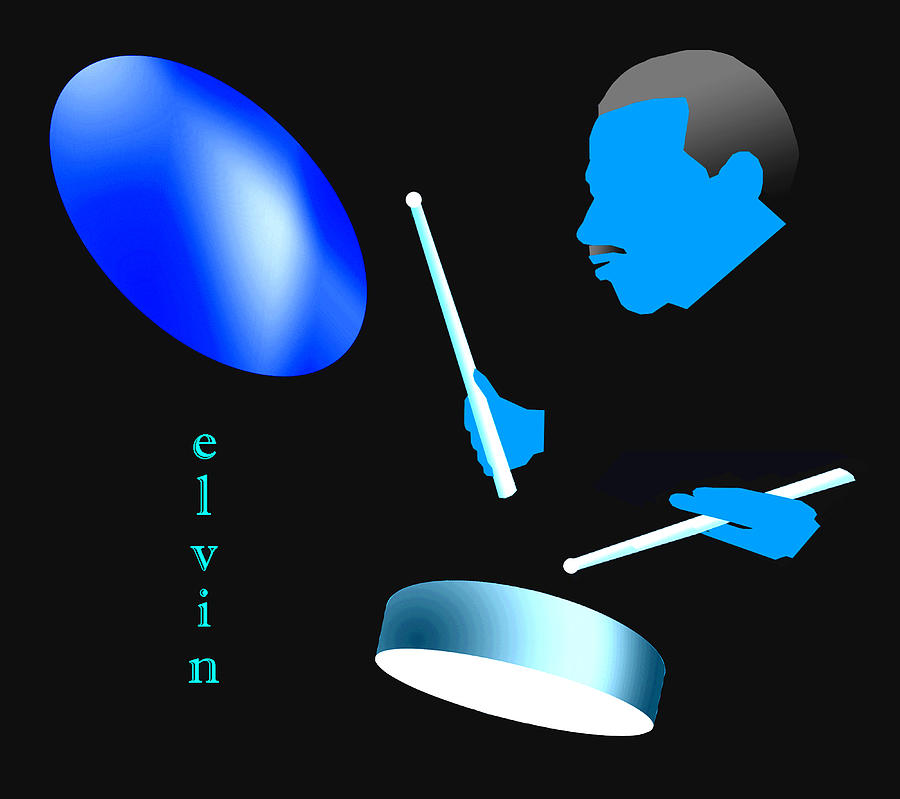 Elvin Blue Digital Art by Victor Bailey