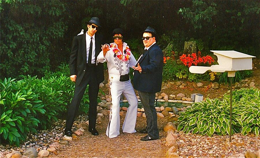 Blues Brothers Photograph - Elvis And The Blues by Randy Rosenberger