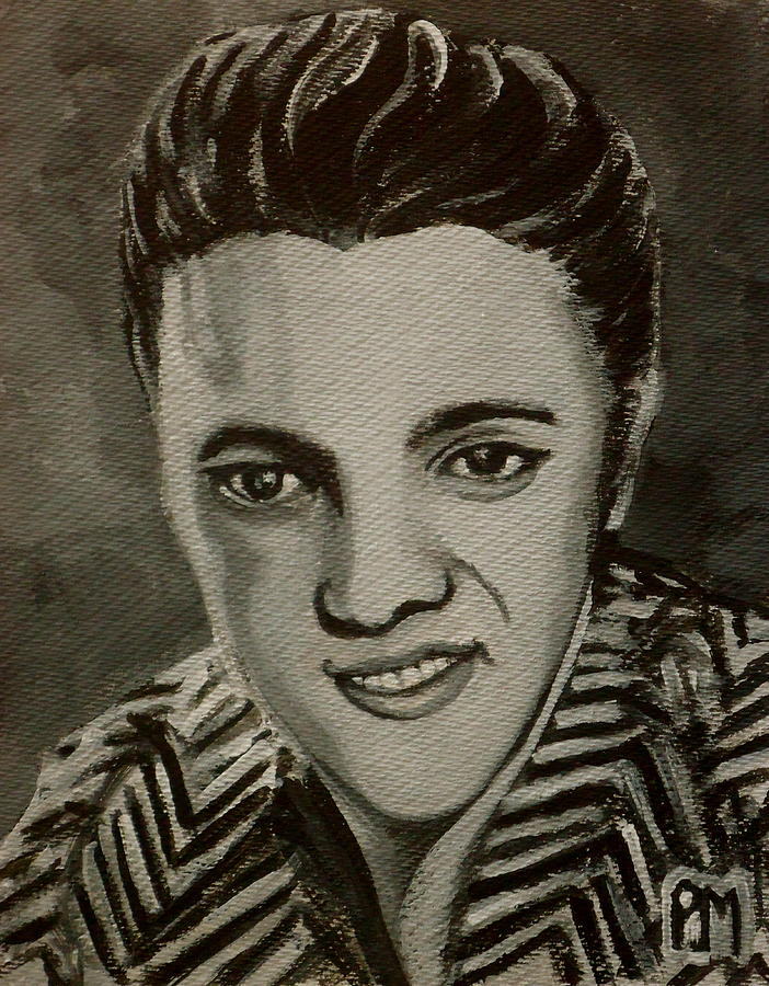 Elvis Presley Painting - Elvis In Z Shirt by Pete Maier