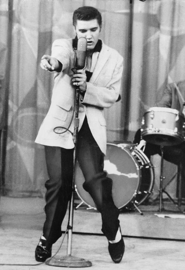 1950s Photograph - Elvis Presley 1935-1977, Performs by Everett