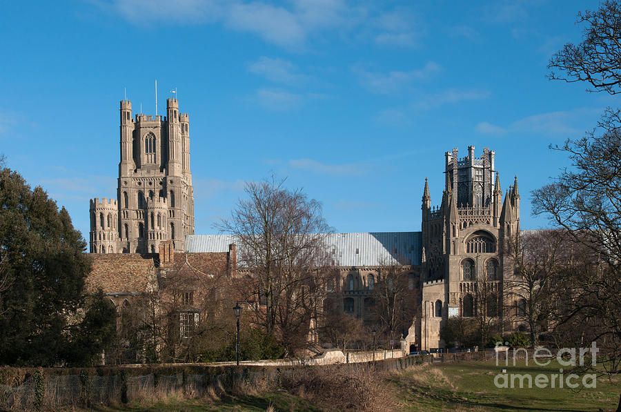 Anglia Photograph - Ely Cathedral In City Of Ely by Andrew  Michael