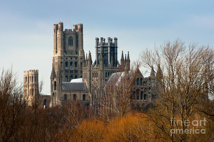 Anglia Photograph - Ely Cathedral Scenic by Andrew  Michael