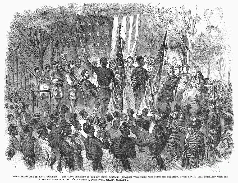 1863 Photograph - Emancipation, 1863 by Granger