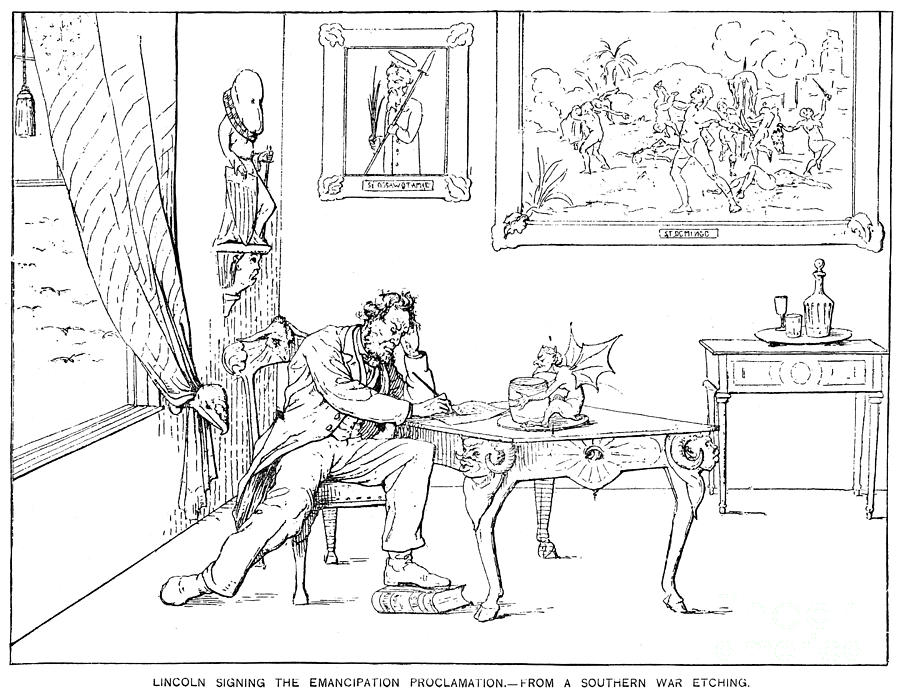 19th Century Photograph - Emancipation Cartoon by Granger