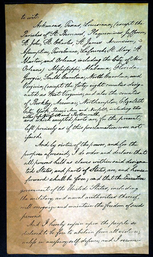 1863 Photograph - Emancipation Proc., P. 3 by Granger