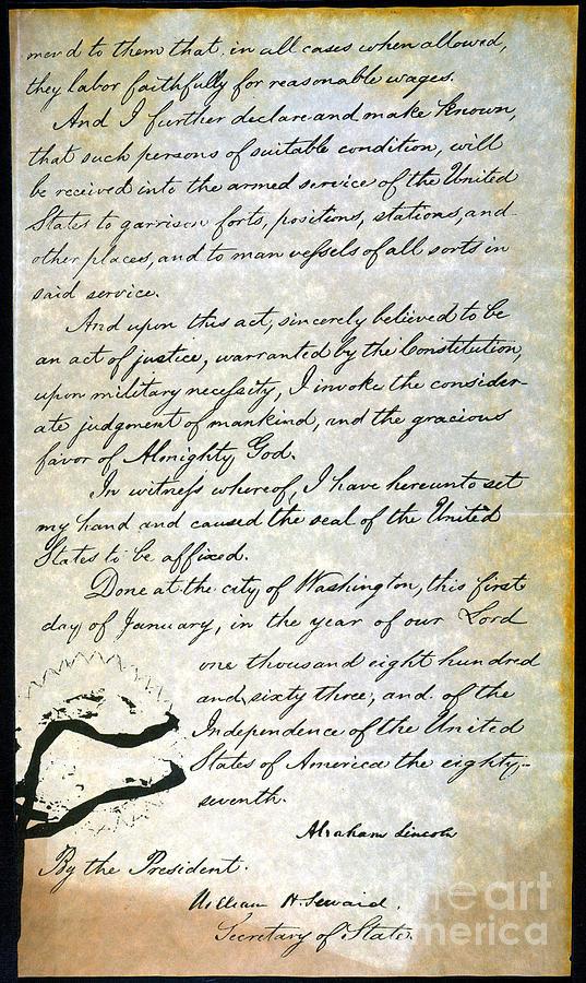 1863 Photograph - Emancipation Proc., P. 4 by Granger