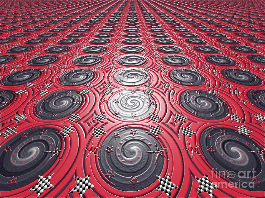 Prints Digital Art - Embossed Record Tiles by Jeannie Atwater Jordan Allen