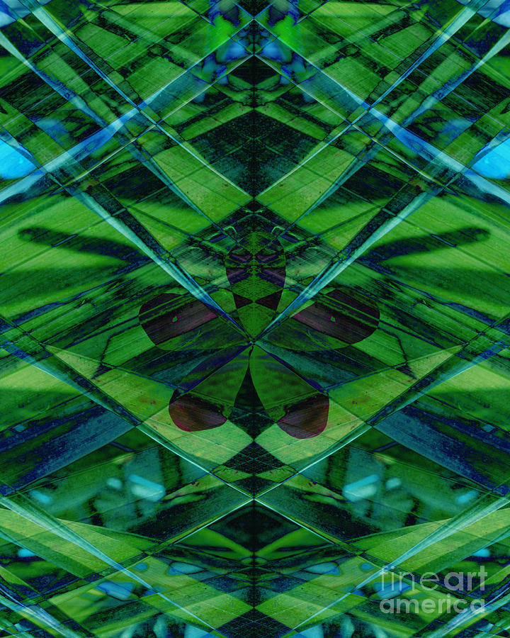 Abstract Art Mixed Media - Emerald Cut by Ann Powell