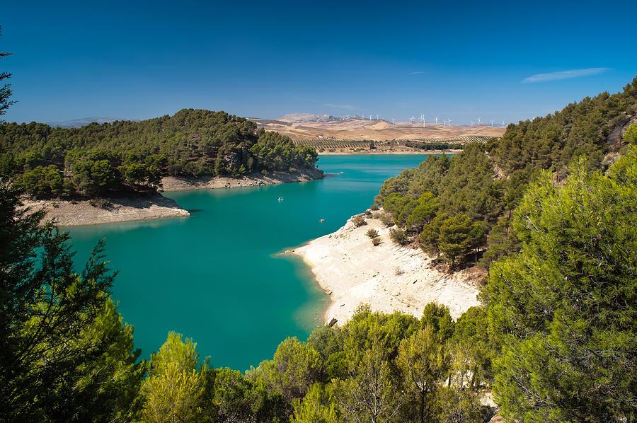 Emerald Lake. El Chorro. Spain Photograph by Jenny Rainbow