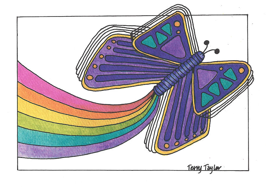 Rainbow Painting - Emergence by Terry Taylor