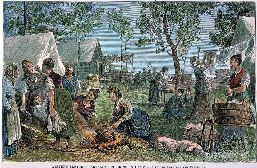 1874 Photograph - Emigrants: Arkansas, 1874 by Granger