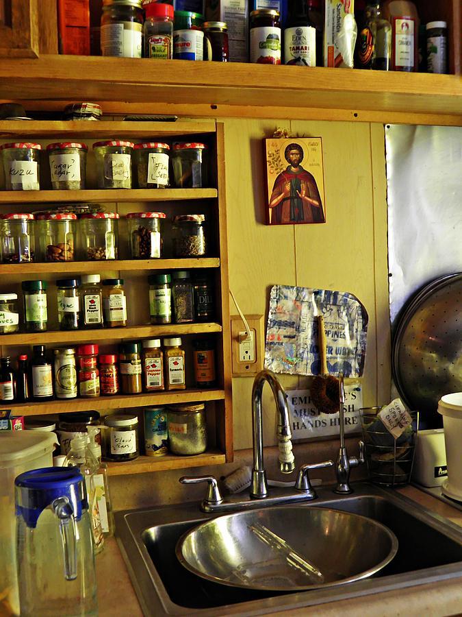 Sarah Loft Photograph - Emmaus House Kitchen by Sarah Loft