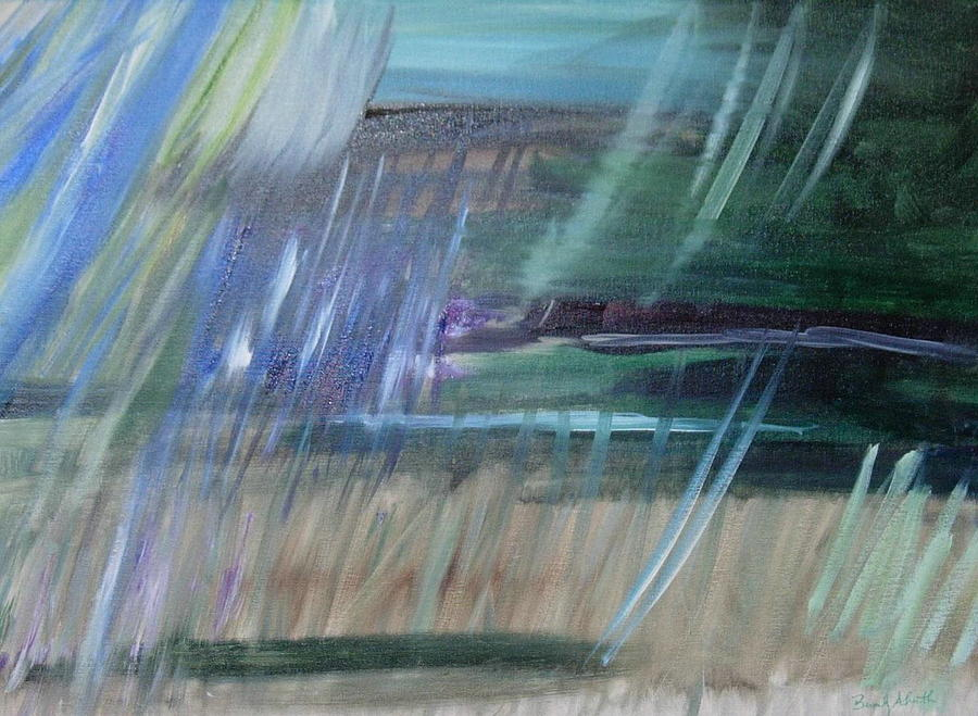 Abstract Painting - Emotional Storm Over Edgartown by Beverly Smith
