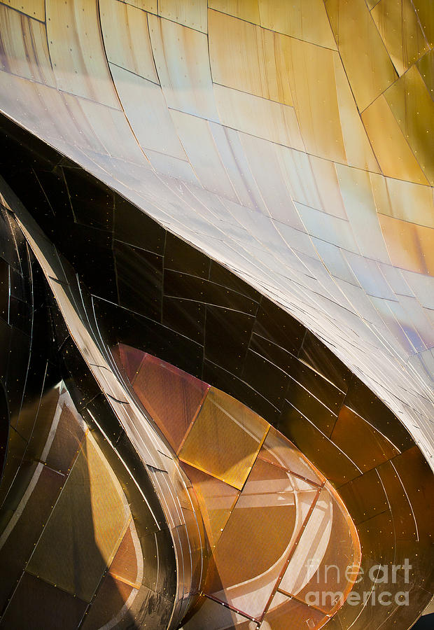 Experience Music Project Photograph - Emp Curves by Chris Dutton