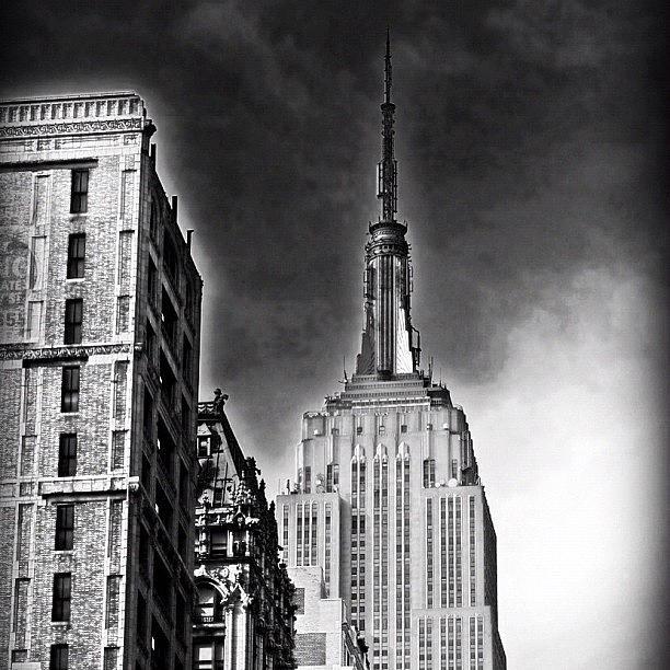 City Photograph - #empire #newyorker #ny #architecture by Joel Lopez