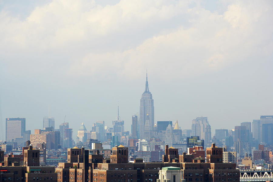 Horizontal Photograph - Empire State Building Seen From Lower Manhattan by Ryan McVay