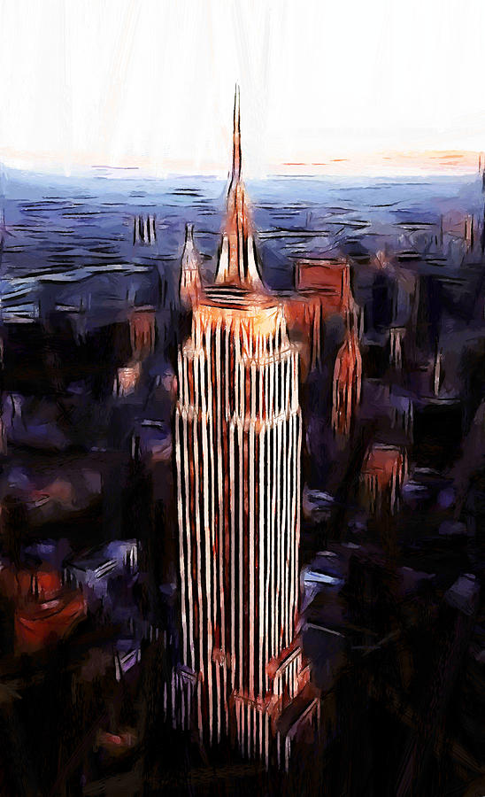 Empire State Building Painting by Steve K