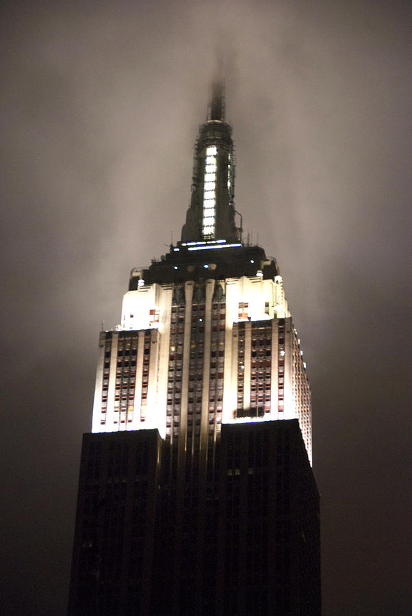 Empire State Building Photograph - Empire State In The Fog by Kelsey Horne