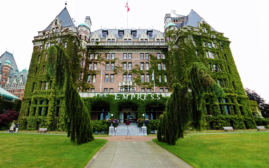 Empress Hotel Photograph - Empress Hotel - Victoria Canada  by Gregory Dyer