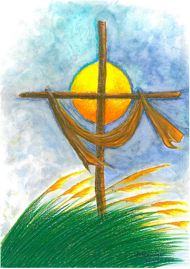 Empty Cross Painting by Ricardo Manabat Empty Cross Painting