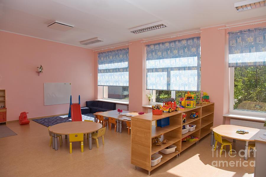 Architectural Detail Photograph - Empty Estonian Elementary Grade School by Jaak Nilson